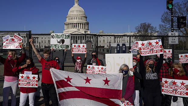 Local Residents Rally For DC Statehood As House Considers Act