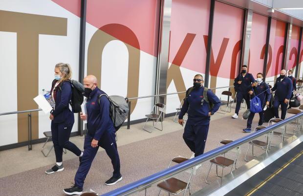 U.S. Olympic boxing team members arrive at Narita airport ahead of Tokyo 2020 Olympic Games