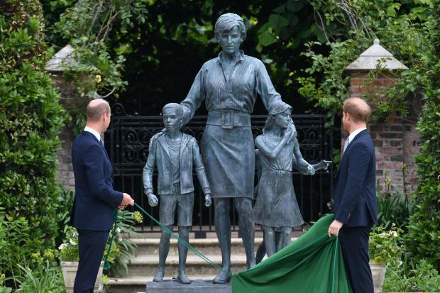 Princes William and Harry unveil statue of Princess Diana