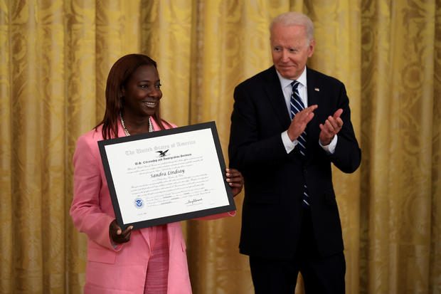 President Biden Participates In Naturalization Ceremony At The White House