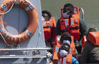 Migrants Intercepted While Crossing English Channel From France