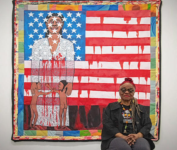 faith-ringgold-before-faith-ringgold-pictured-the-flag-is-bleeding-no-2-620.jpg