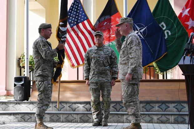 "General Austin ""Scott"" Miller at handover ceremony in Kabul, Afghanistan"