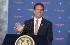 Governor Andrew Cuomo makes an announcement regarding gun