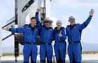 Jeff Bezos and Blue Origin New Shepard crew