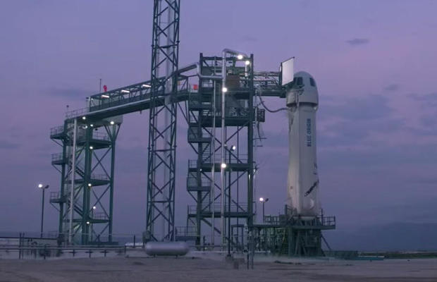 New Sheparrd rocket on the launch pad