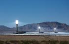 Giant solar energy plant at near Ivanpah, California