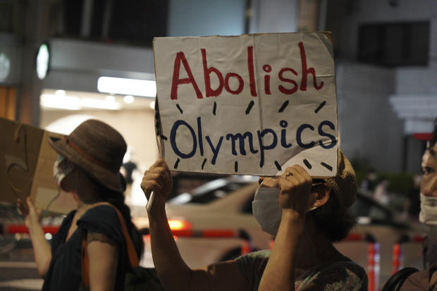 Tokyo Olympics Opening Ceremony Protest
