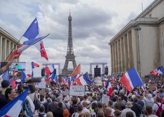 coronavirus COVID-19 France protest