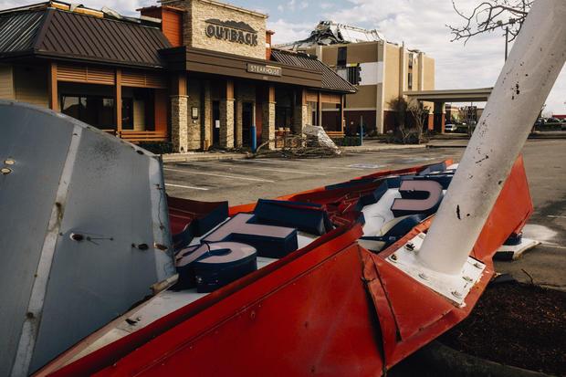 Tornado Rips Through Fultondale, Alabama Damaging Structures