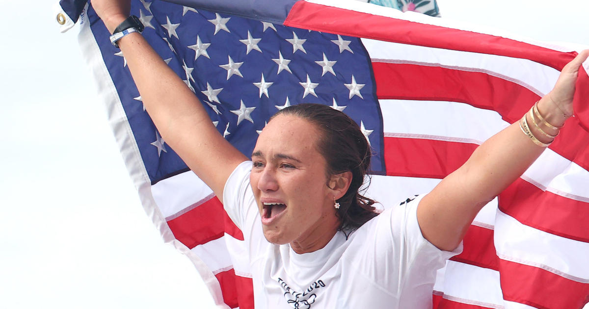 American Carissa Moore wins first Olympic women's surfing gold