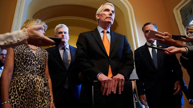 Republican Senators announce agreement on infrastructure at the U.S. Capitol in Washington