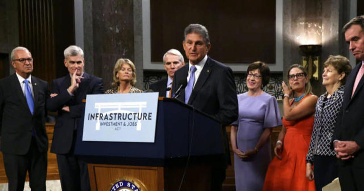 Senate votes to move infrastructure deal forward in rare bipartisan agreement