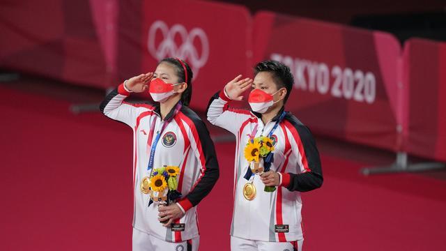 JAPAN-TOKYO-OLY-BADMINTON-WOMEN'S DOUBLES-AWARDING CEREMONY