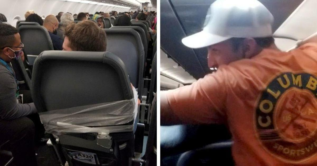 Frontier Airlines passenger taped to seat after allegedly groping two flight attendants and punching another
