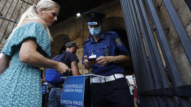 APTOPIX Virus Outbreak Italy Green Pass