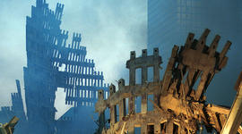 Ground Zero Two Days After World Trade Terror Attack
