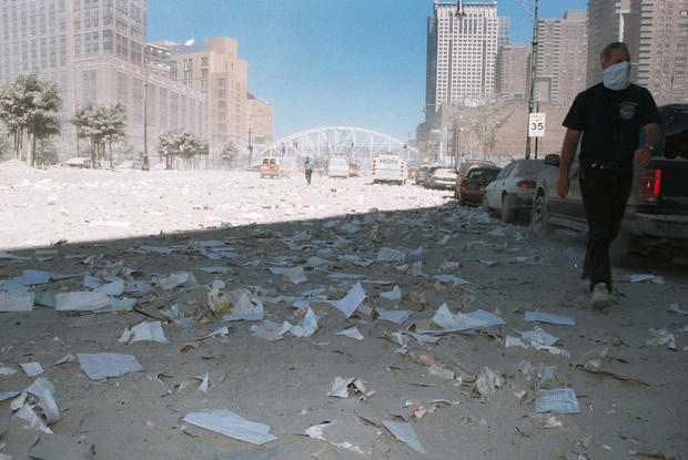 Aftermath of 9/11 attack on New York City