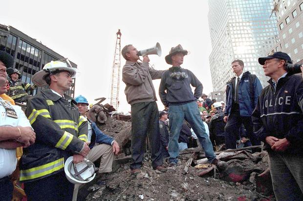 Bush Speaks At Ground Zero