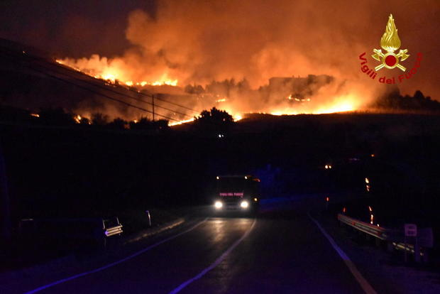 Wildfires in Sicily