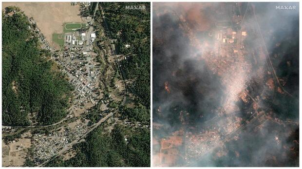 Maxar satellite imagery of Greenville, California