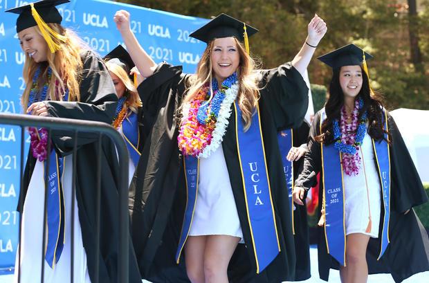 UCLA Holds Socially-Distanced Graduation Ceremony At Drake Stadium
