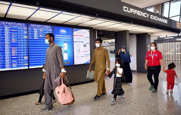 Afghan refugees arrive in the United States