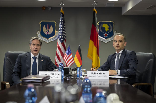 German Foreign Minister Travels To Ramstein Air Base