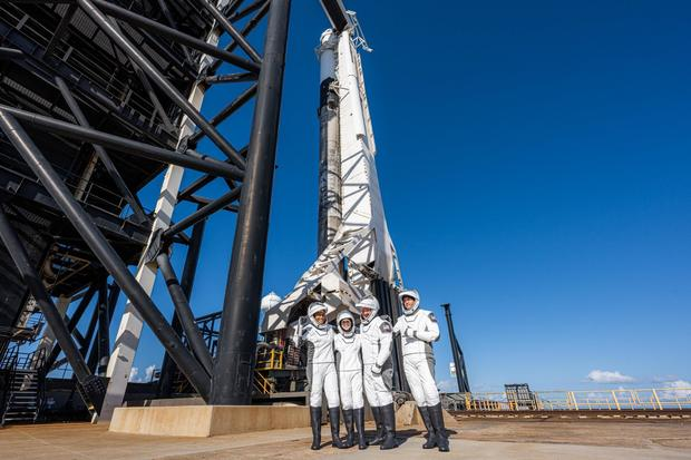 Inspiration4 crew prior to launch