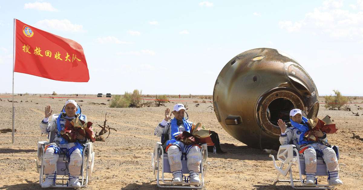 Three Chinese astronauts return to Earth after 90 days on Beijing's budding space station