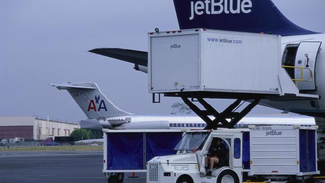 Loading Supplies on Jetliner