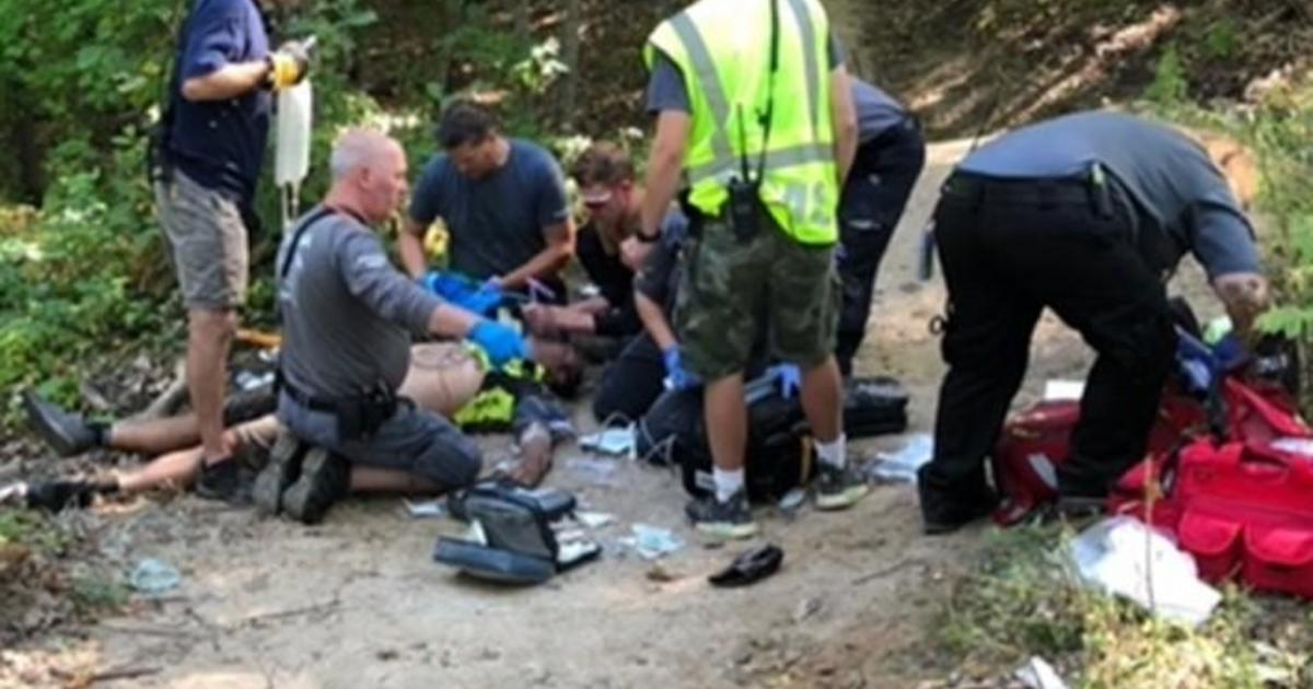 """""""What are the odds?"""": Mountain biker's life saved by off-duty doctor who happened to come along on the trail"""