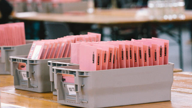 Mailed In Ballots Are Counted At Cologne Trade Fair Center