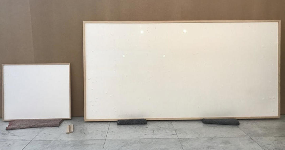 """A museum says they gave an artist $84,000 in cash to use in artwork. He delivered blank canvases and titled them """"Take the Money and Run."""""""