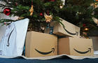 Amazon boxes under the tree