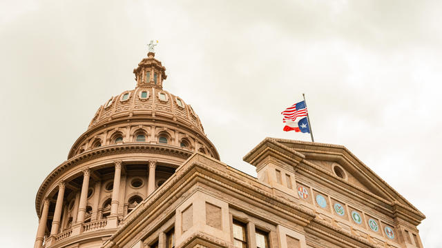 Austin Texas State Capitol Building with Overcast Sky in Southern USA